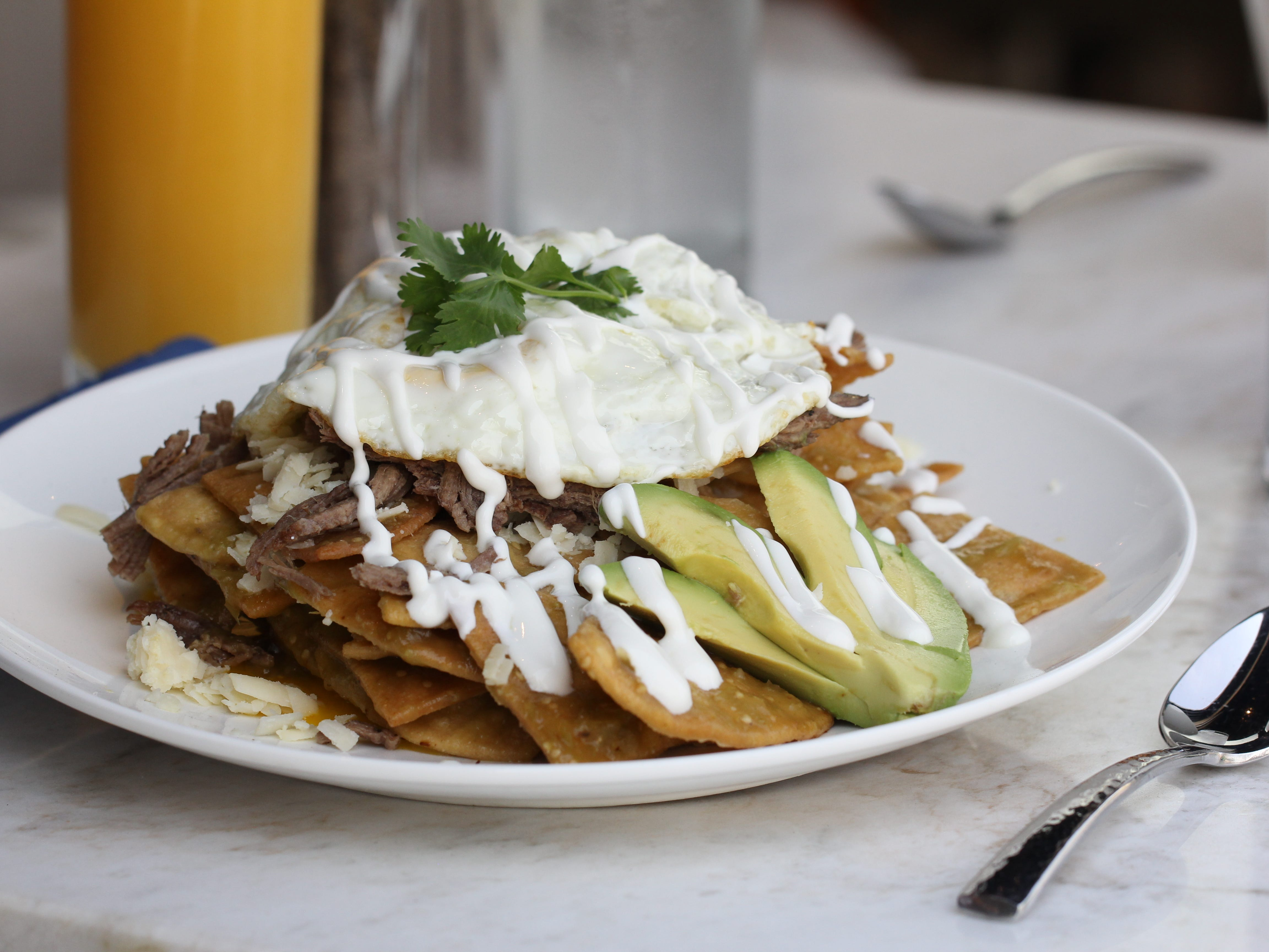 The chilaquiles at Dorian.