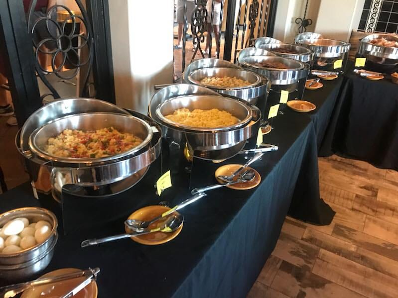 The brunch buffet at Casa Del Mar Café.