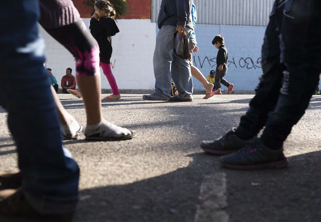 More than 2,500 mostly Central American migrants are currently staying at the Unidad Deportiva Benito Juarez, a makeshift shelter, in Tijuana.