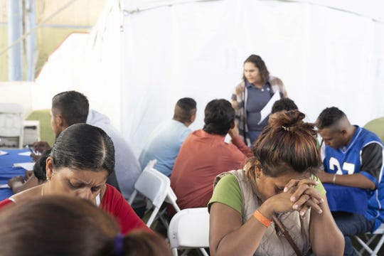 Maritza Lara, a migrant from Honduras, jumped at the chance to find a job in Mexico to move out from the shelter. Government and business leaders kicked off on Nov. 18, 2018, a monthlong job fair aimed at helping out stranded migrants that had traveled up here in a caravan, and possible getting them to stay in Mexico, rather than pursue asylum claims in the United States.