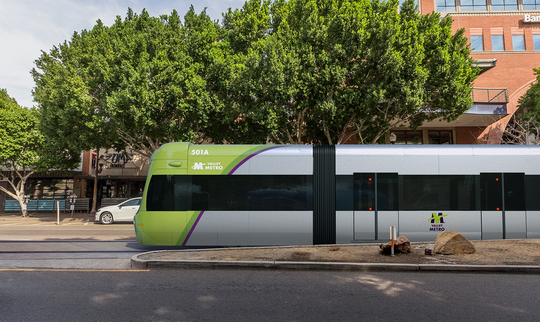 Tempe's streetcar project will have five vehicles traveling along the three-mile route.