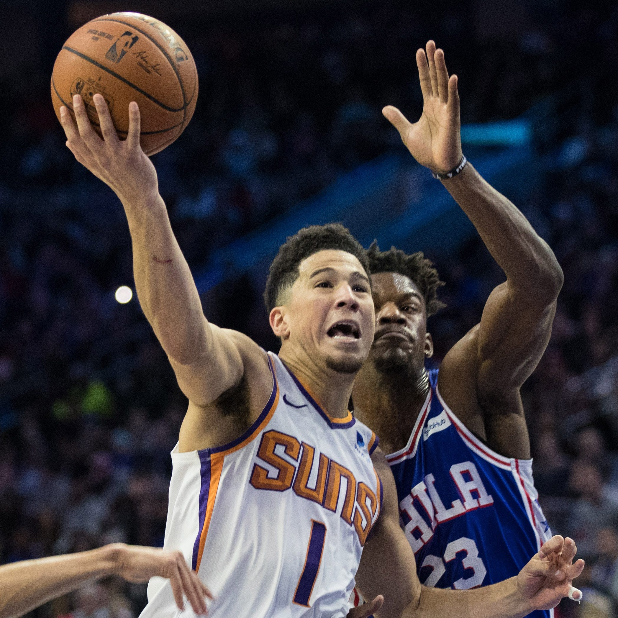 After Devin Booker's strong performance at point guard, how will Suns handle starting lineup?