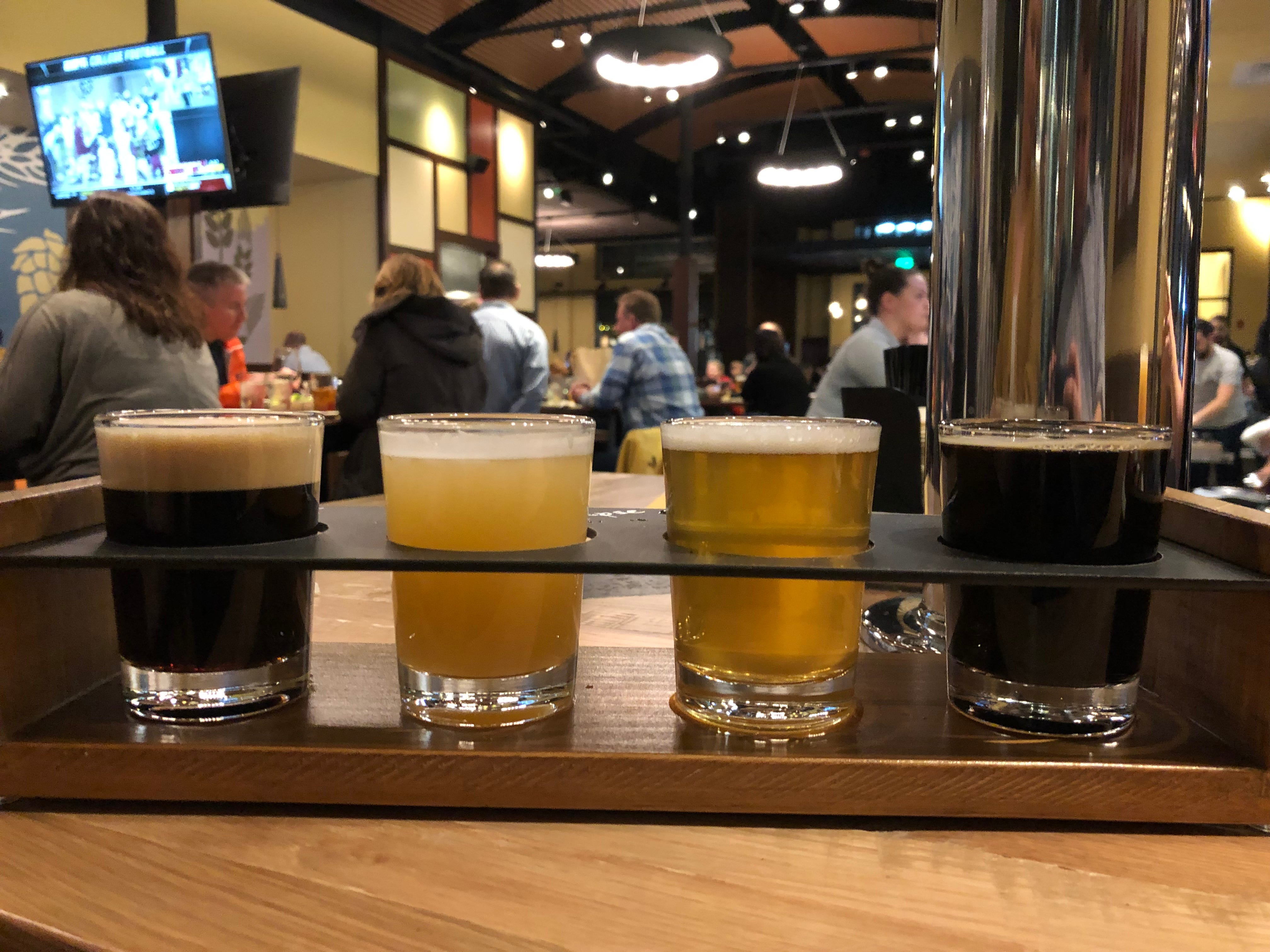 Can't choose just one beer? Try a flight at Iron Hill Brewery & Restaurant.