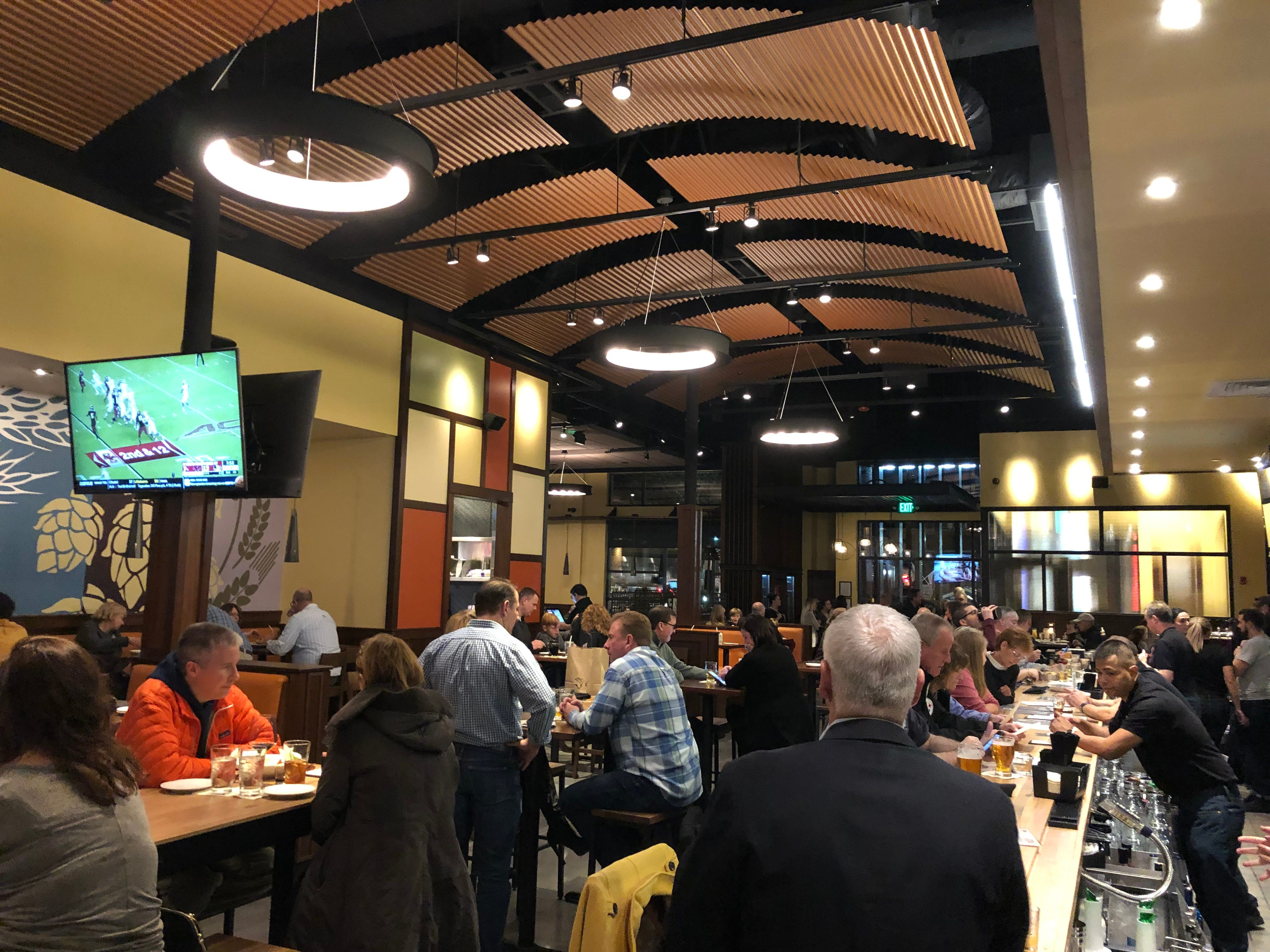 A look at the laid back, fun atmosphere inside Iron Hill Brewery & Restaurant in Hershey.
