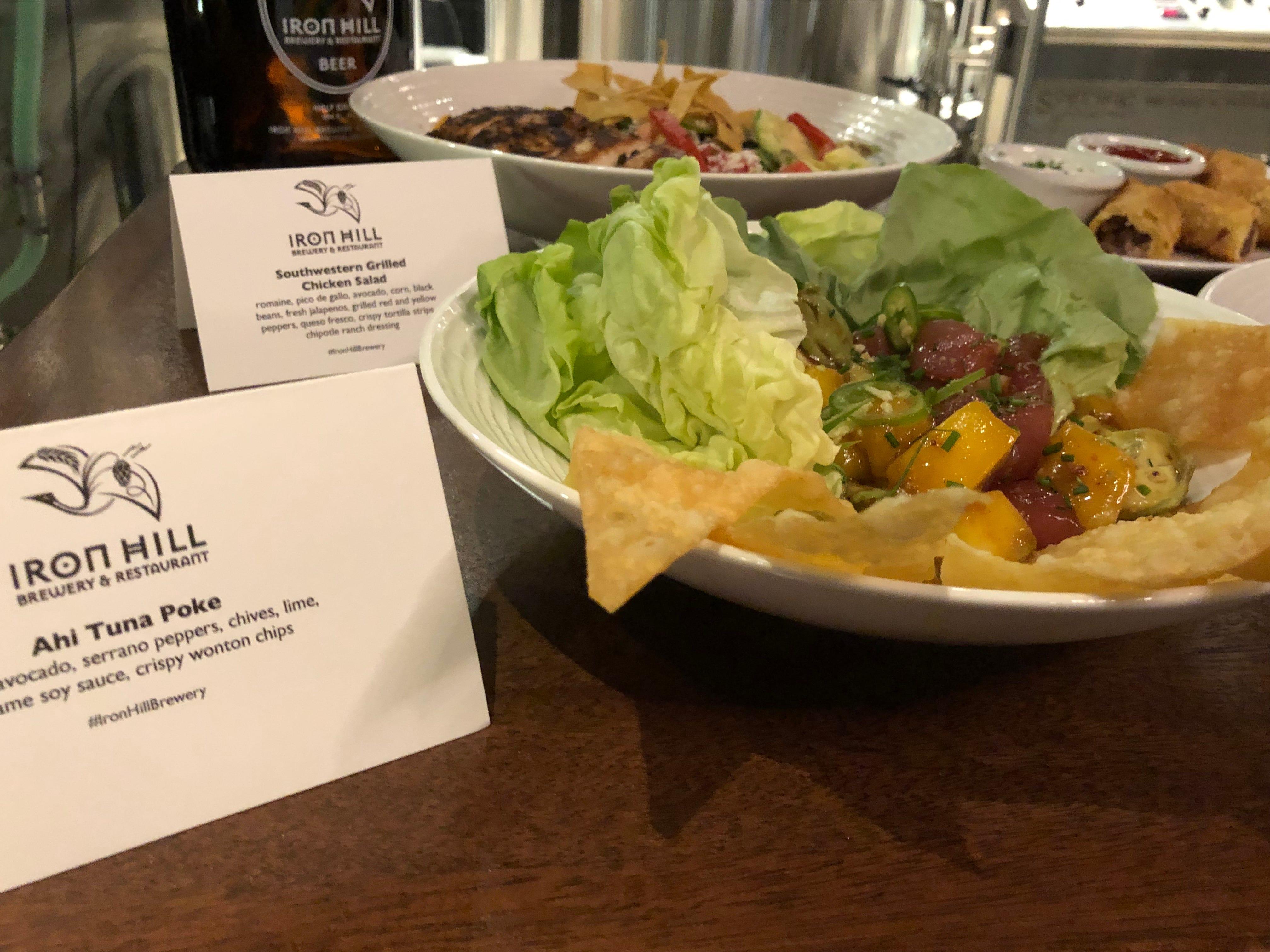 Ahi Tuna Poke at Iron Hill Brewery & Restaurant.
