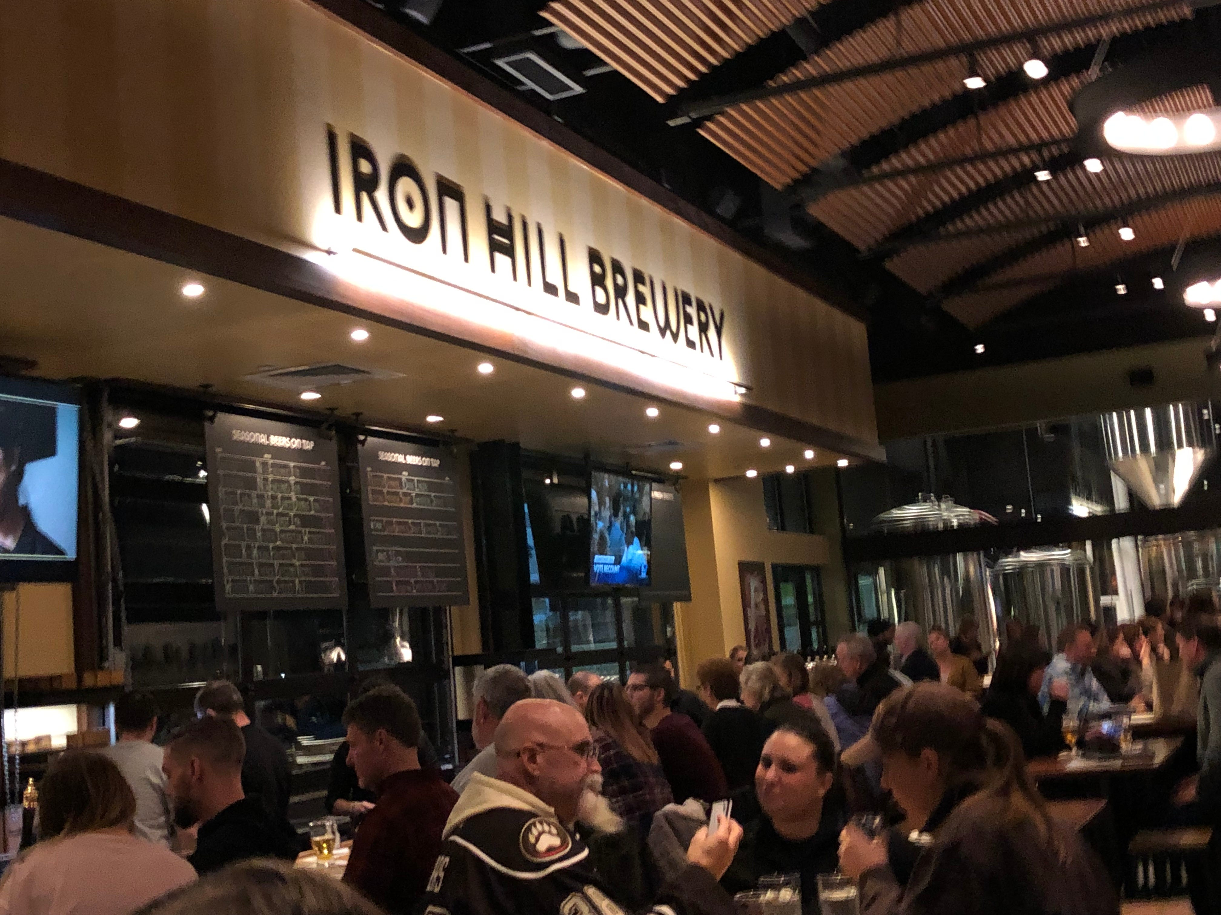 A packed house for Iron Hill Brewery & Restaurant's soft opening.