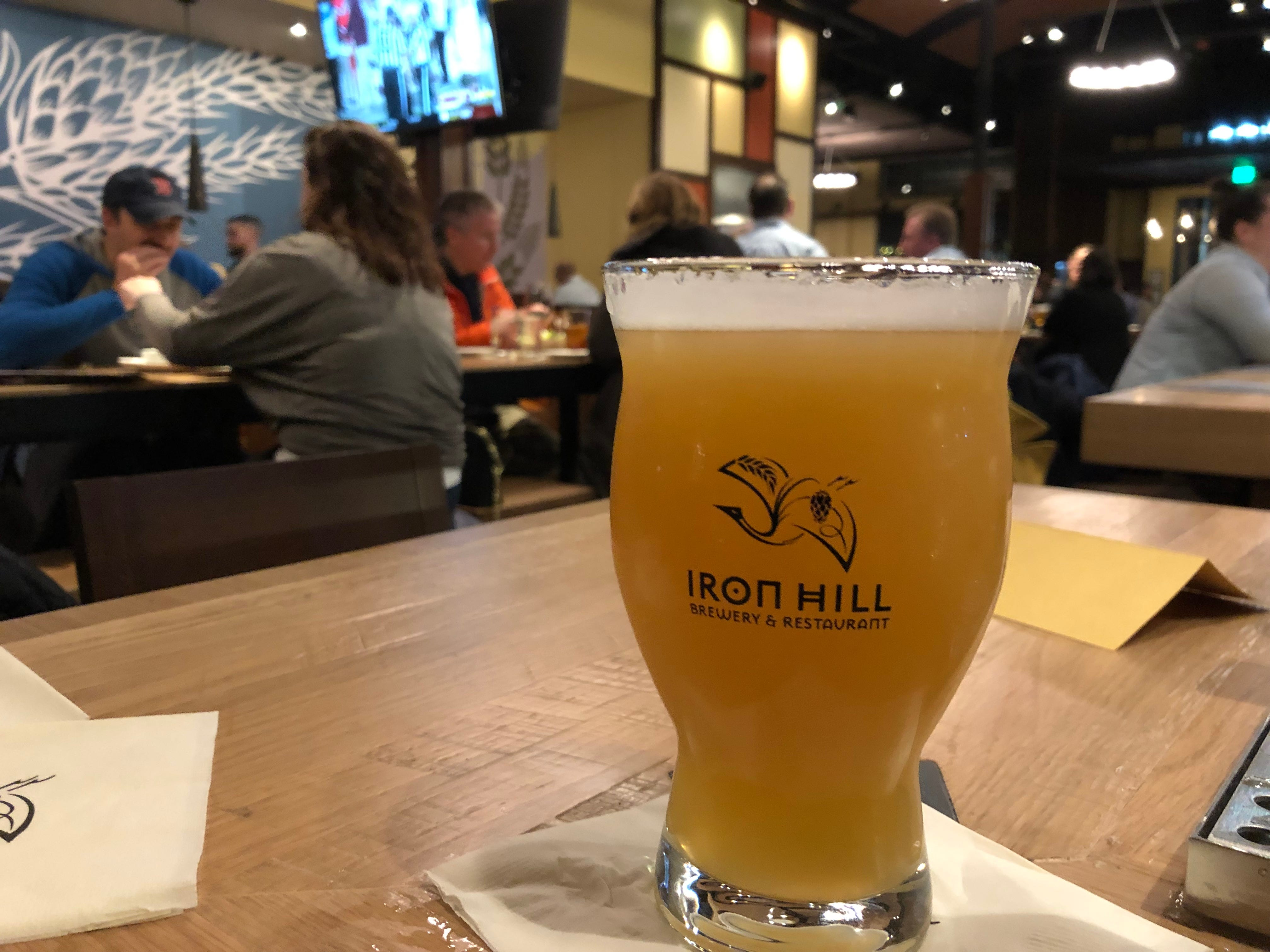 A delicious pint of Juicebox, a New England IPA, currently available at Iron Hill Brewery & Restaurant.