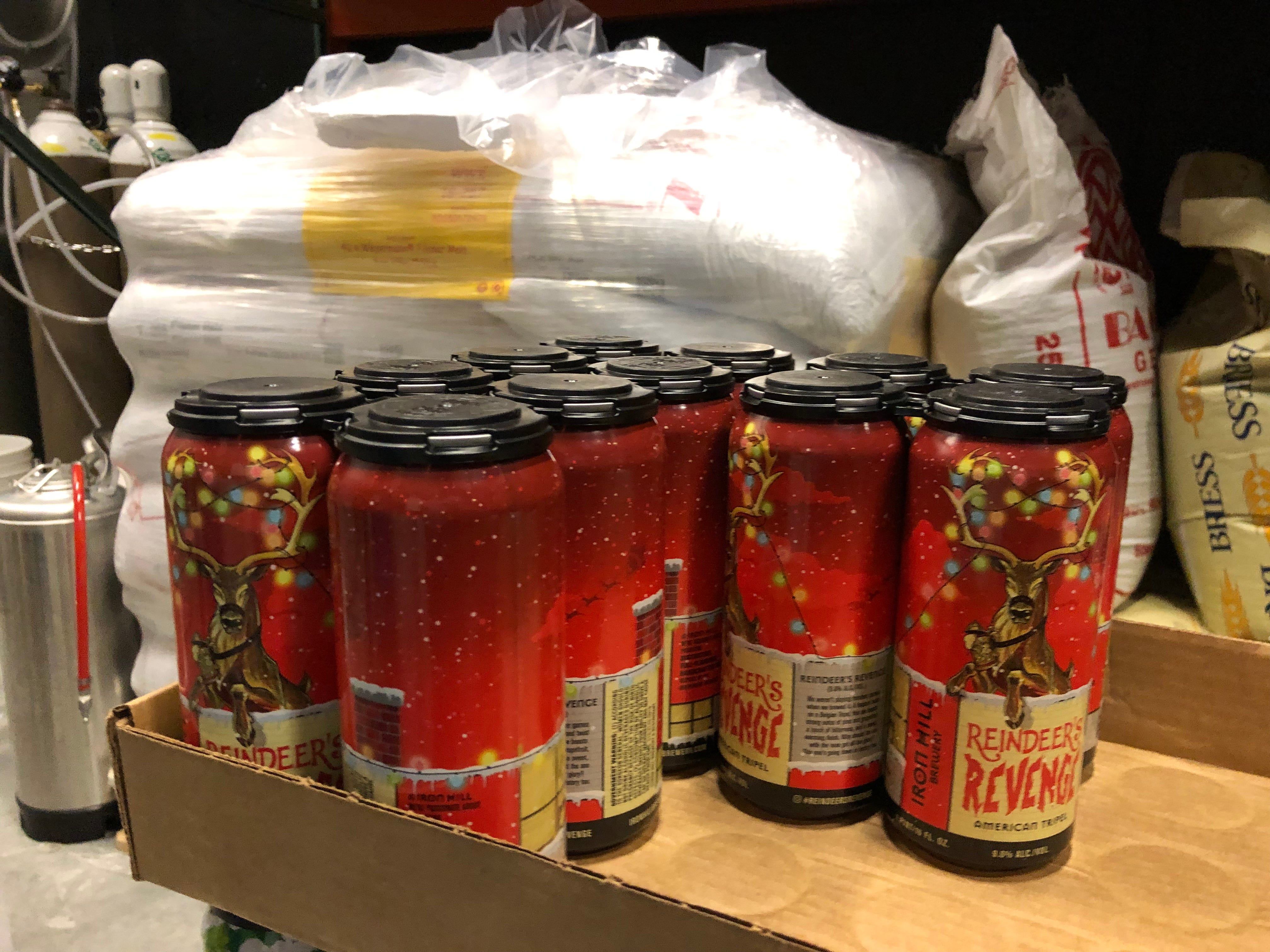 Reindeer's Revenge is a great seasonal beer currently on tap and in cans at Iron Hill Brewery & Restaurant in Hershey.