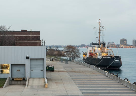 The USCGC Bramble is seen docked at the Seaway Termin in Port Huron Monday, Nov. 19, 2018. A Florida yacht broker has the decommissioned Coast Guard cutter listed for sale for $1.65 million.