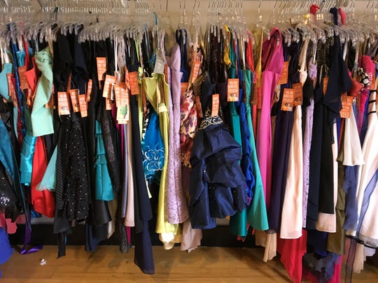 A rack of special-occasion dresses are stored at the AUD Regional Youth Complex in Richmond. They were to be moved to the soon-to-open A Beautiful Me Closet in downtown Port Huron.