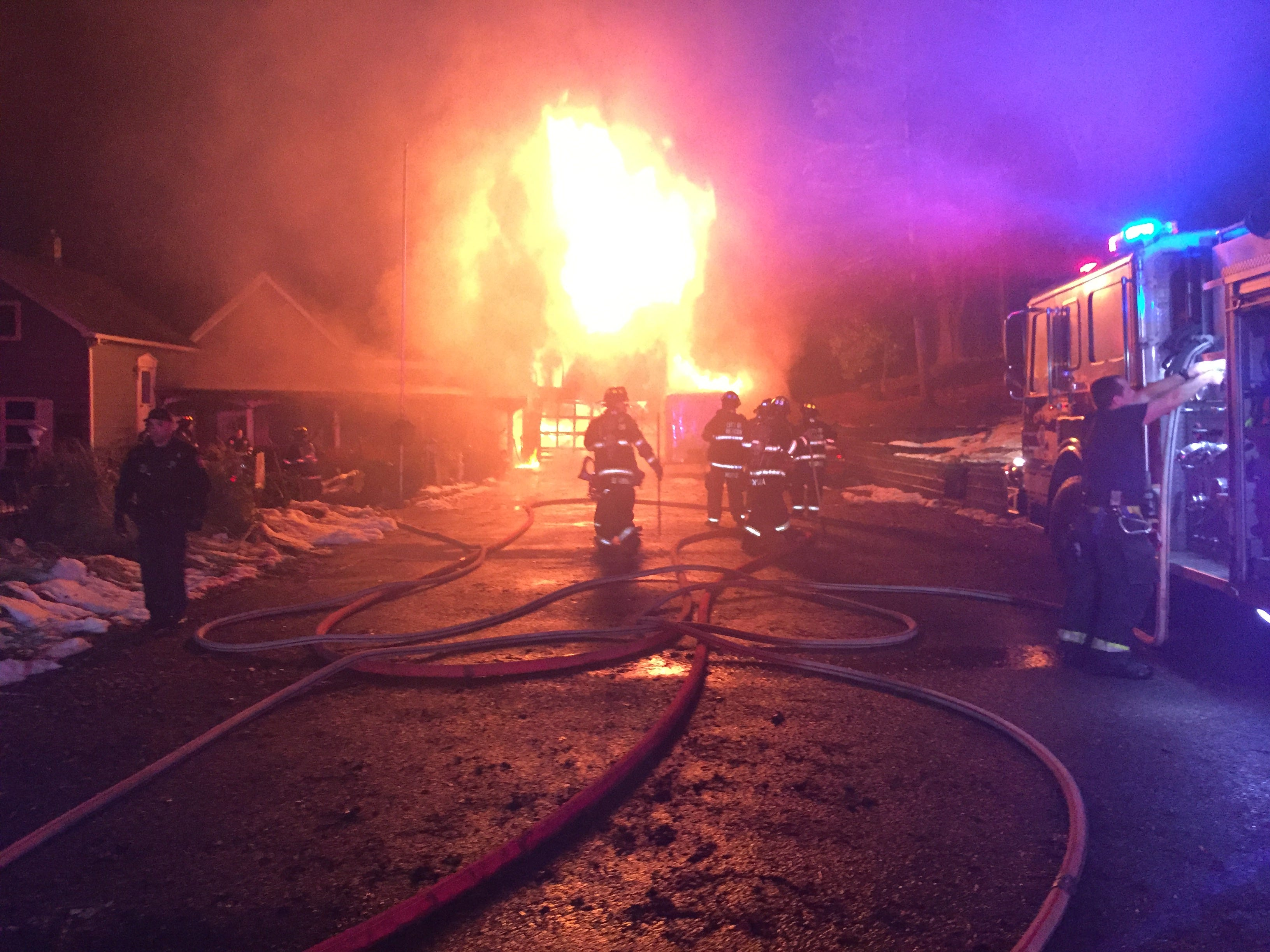 Beacon fire: 'small explosions' from car, motorcycles, snowblowers
