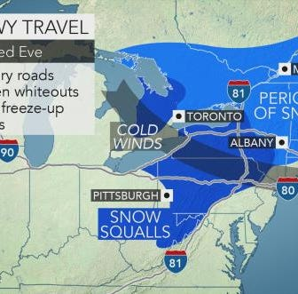 Dangerous snow squalls to hit Pennsylvania on busy travel day before Thanksgiving