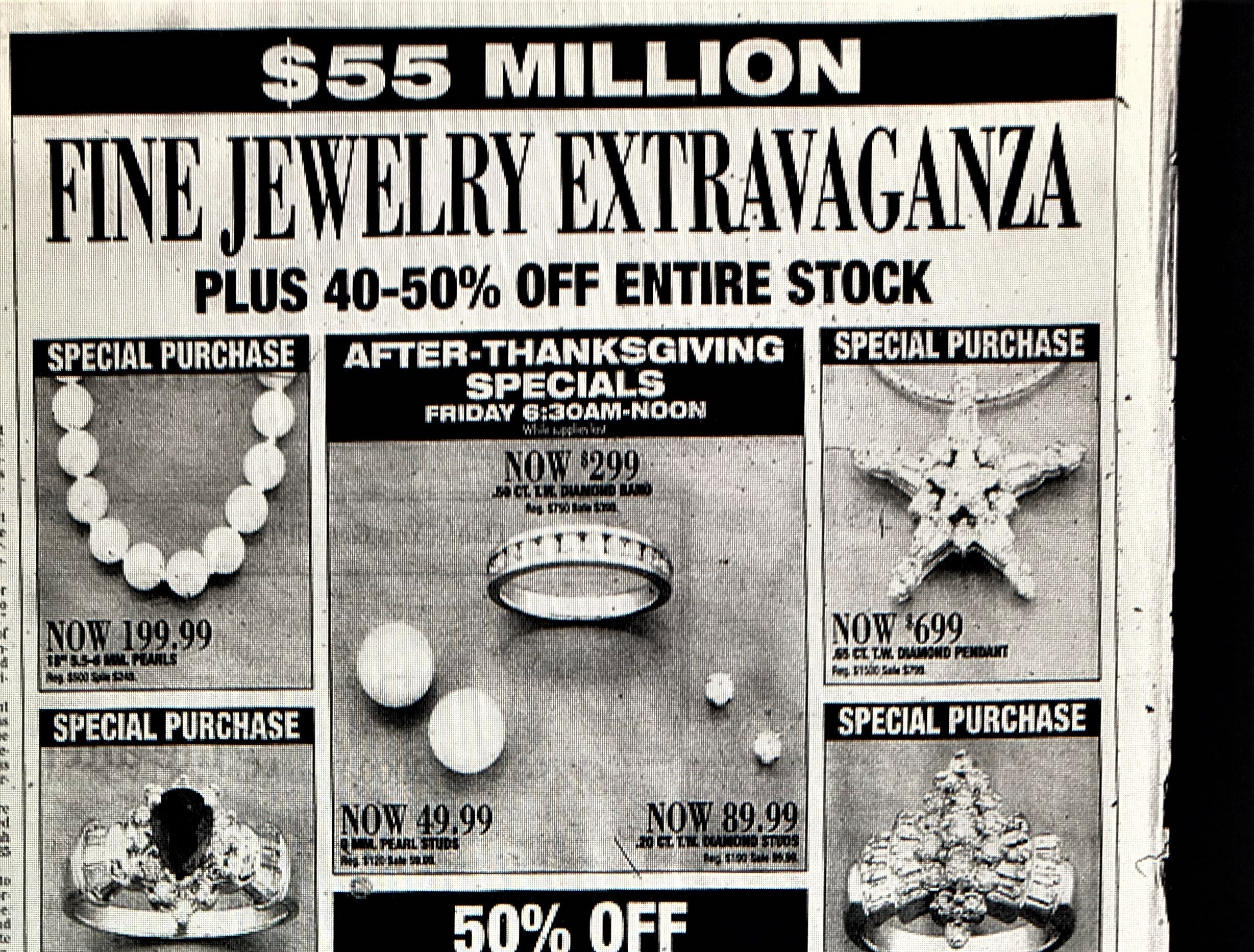 A 1998 holiday ad from the Bon-Ton.