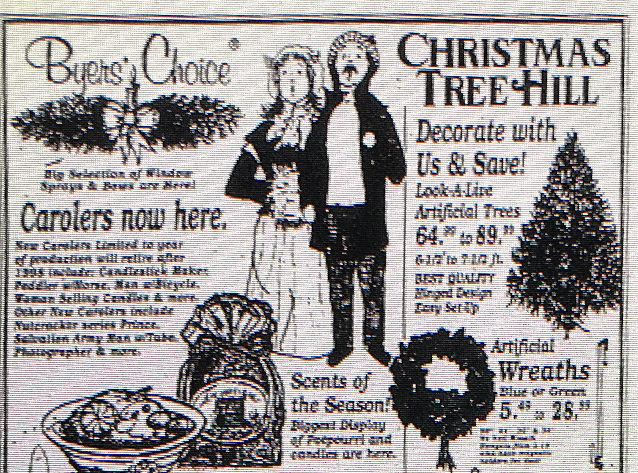 A holiday advertisement for Byers' Choice circa 1978.