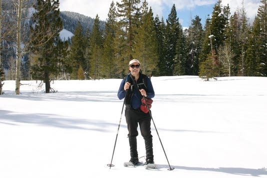 Author Mike White snowshoeing