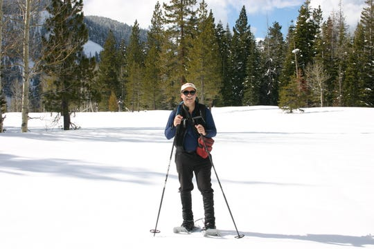 """Mike White, author of """"50 of the Best Snowshoe Trails Around Lake Tahoe"""" published by University of Nevada Press in 2018."""