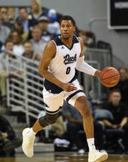 Nevada's Tre'Shawn Thurman brings the ball up against California Baptist, the Wolf Pack's most recent home opponent.