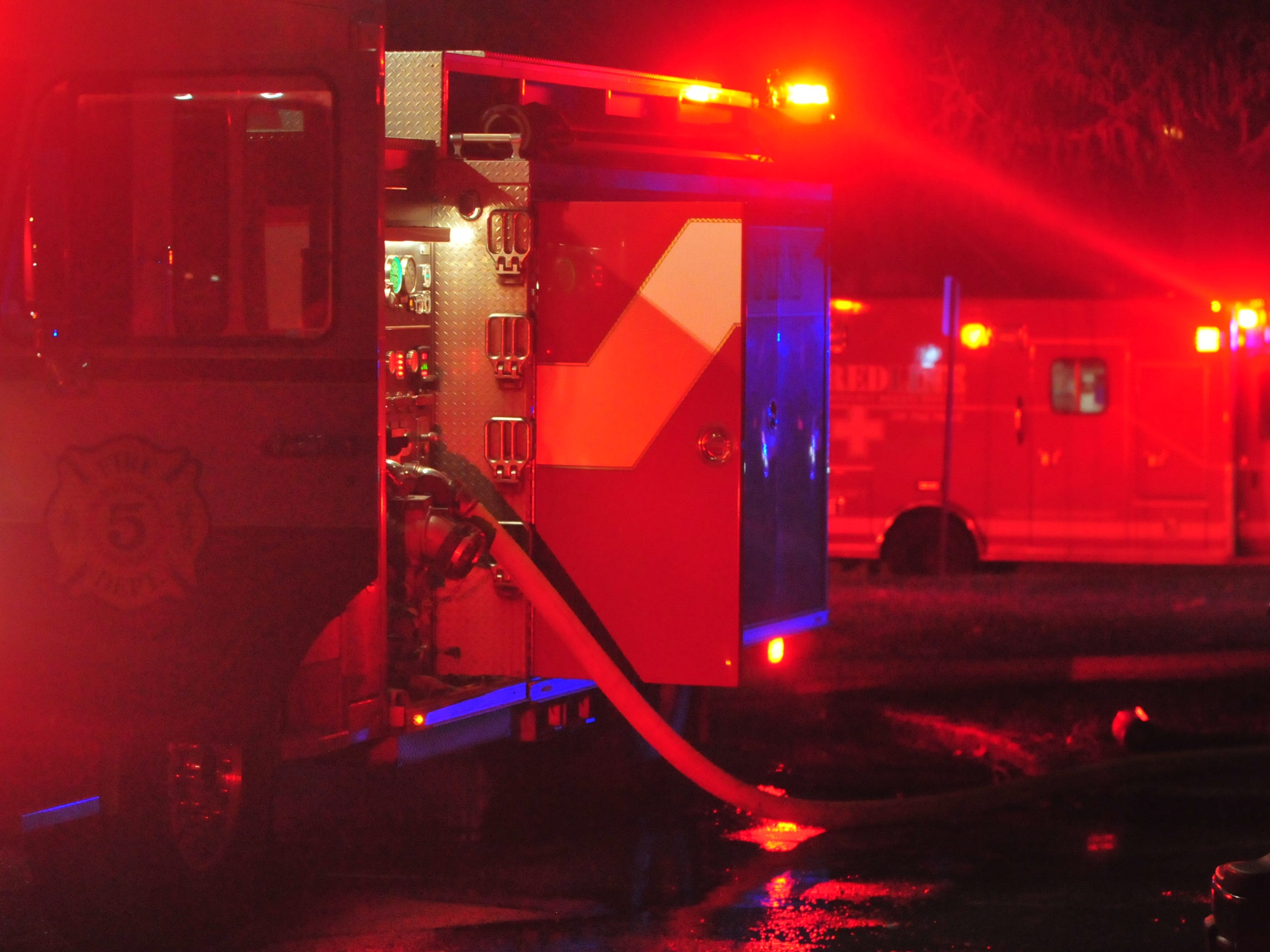 Richmond Fire Department fought a Monday evening fire at Interfaith Apartments.