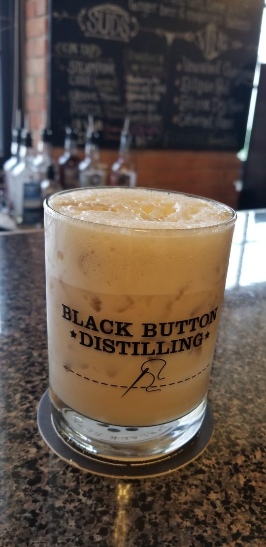 The 585 Cocktail at Black Button Distilling.
