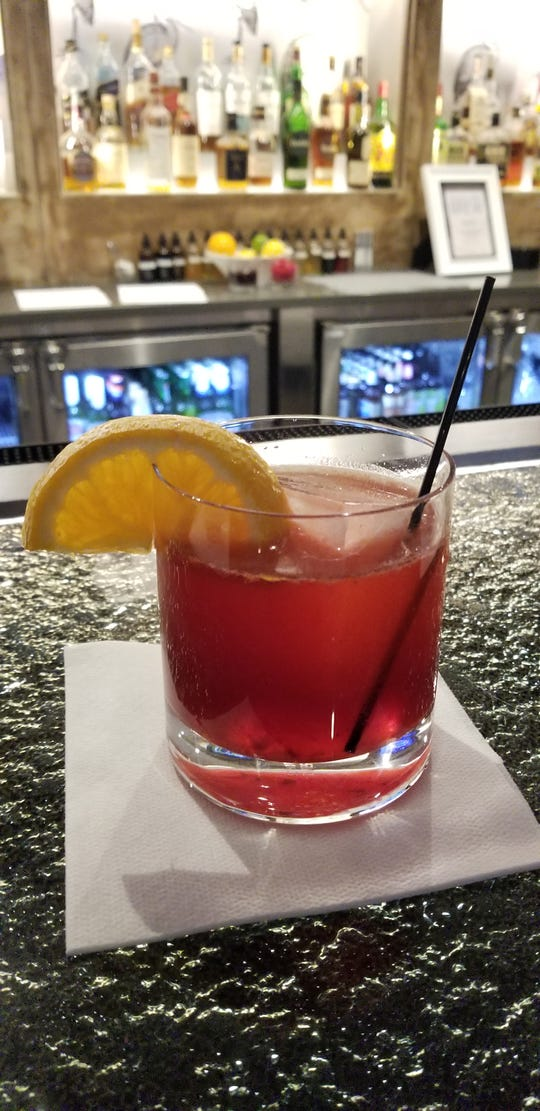 Pomegranate Old Fashioned at Erie Grill.