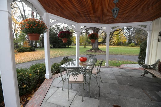 A side porch on this Gothic house in Pittsford.