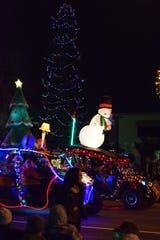 Lighted Christmas Parade rolls into Redding.