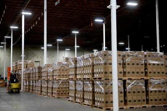 A warehouse area at the new home of Oregon Fruit Products off Madrona Avenue in southeast Salem.