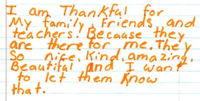 San Angelo ISD students share what they are thankful for ahead of the Thanksgiving holiday.