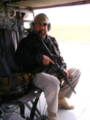 Richard Quinones on a mission in 2013 in Afghanistan.