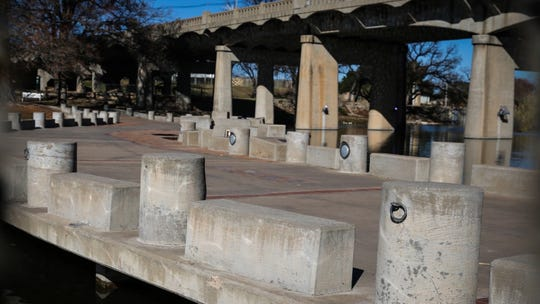 Celebration Bridge over the Concho River by Oakes Avenue.