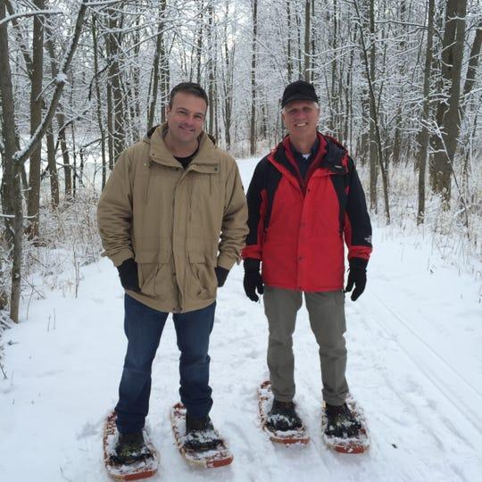 Discover Wisconsin's Eric Paulsen snowshoes at Sheboygan's Maywood Environmental Park.