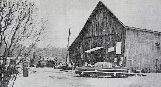 The barn where the bodies of Edward and Frances Cizauskas were found.
