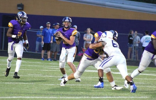 Logansport quarterback Landon Moon  prepares to pass in a game earlier this season.