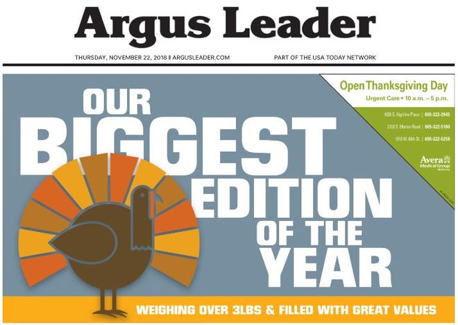 Argus Leader Thanksgiving edition.