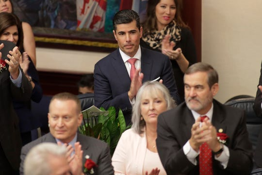 Rep. JosŽ Oliva (R-Miami) is nominated for Speaker of the House of Represenatives during the House of Representatives organizational session at the Florida State Capitol Tuesday, Nov. 20, 2018.