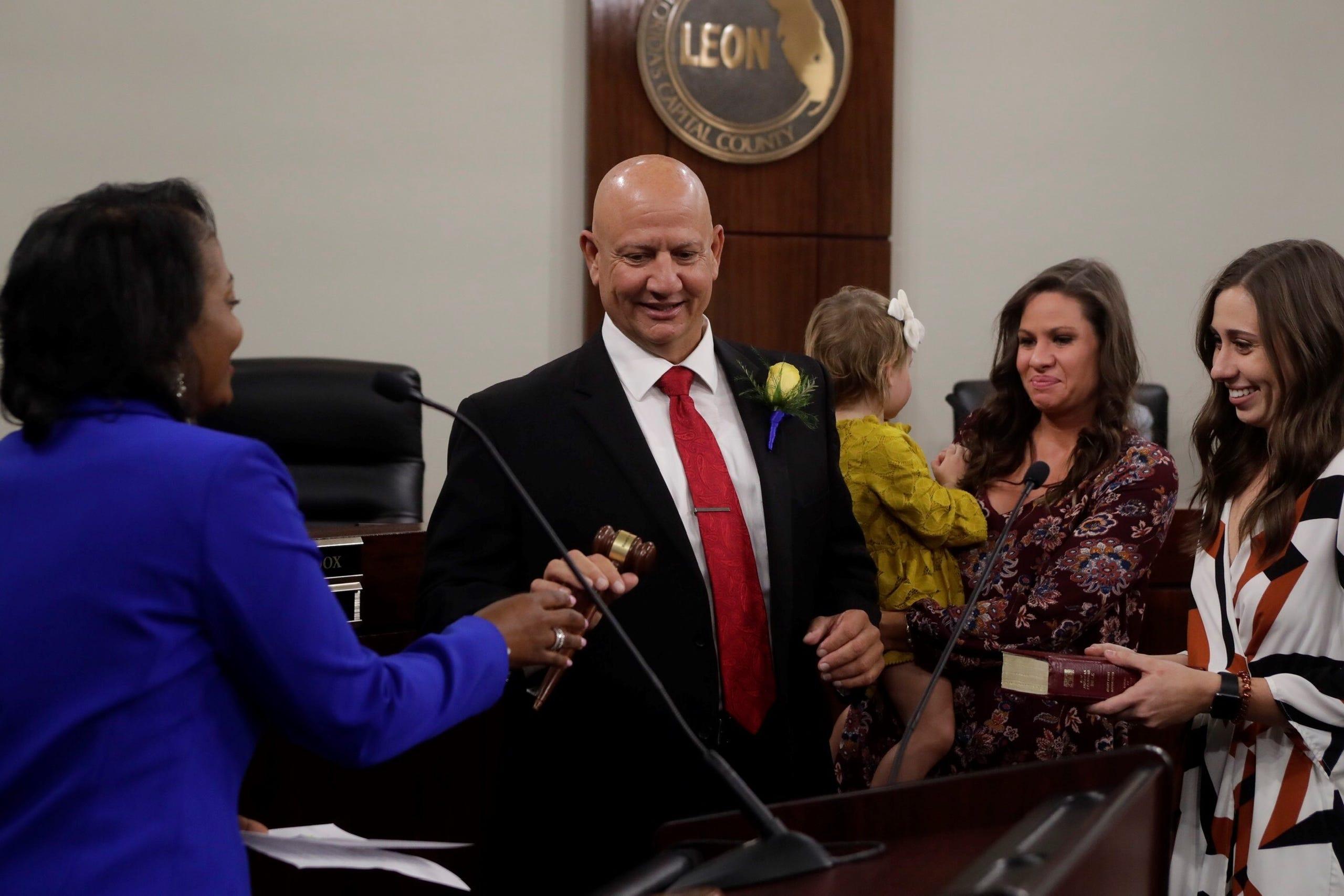 Rick Minor sworn in as Leon County commissioner