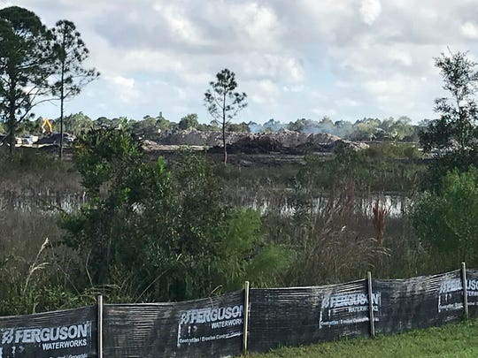Construction is going full-blast in the Veranda Gardens subdivision on the south side of Becker Road west of Gilson Road.