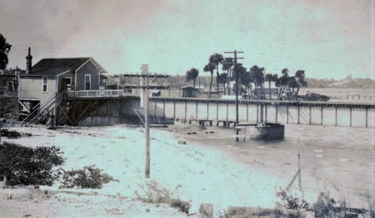 Bridge tender's house for the St. Lucie River in 1920s.