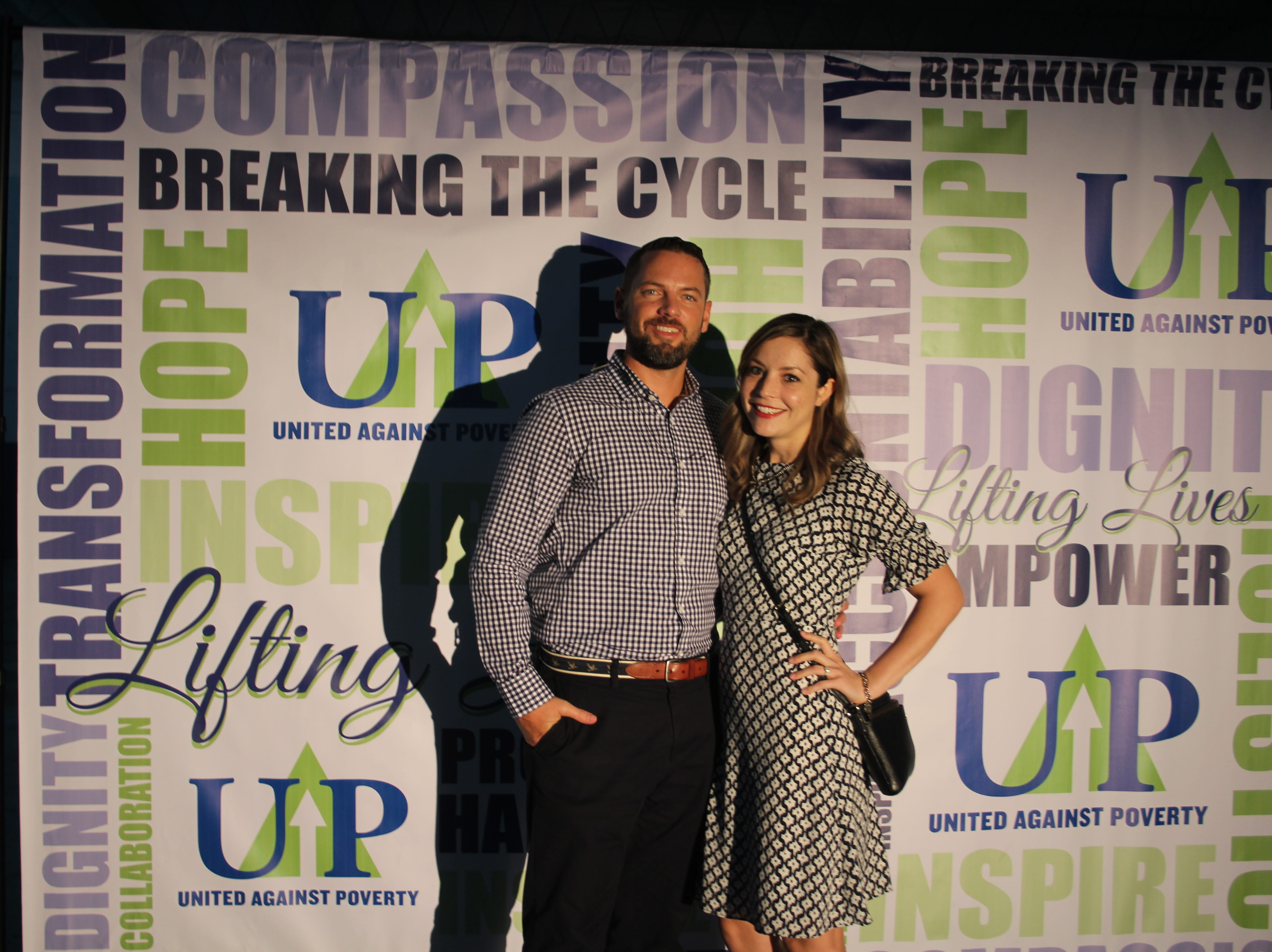 Stephen and Tori Hume at United Against Poverty's Lifting Lives Out of Poverty Capital Campaign kick-off for Phase II.