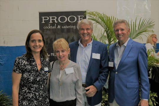 United Against Poverty Executive Director Annabel Robertson, left, with Emilie and Bob Burr and Bill Frick, UP Board member, at United Against Poverty's Lifting Lives Out of Poverty Capital Campaign kick-off for Phase II.