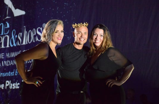 Crowning Of The King Of Sole Chris Sullivan On Each Side Event Co Chairs Crystal Tumolo And Jennifer Downes