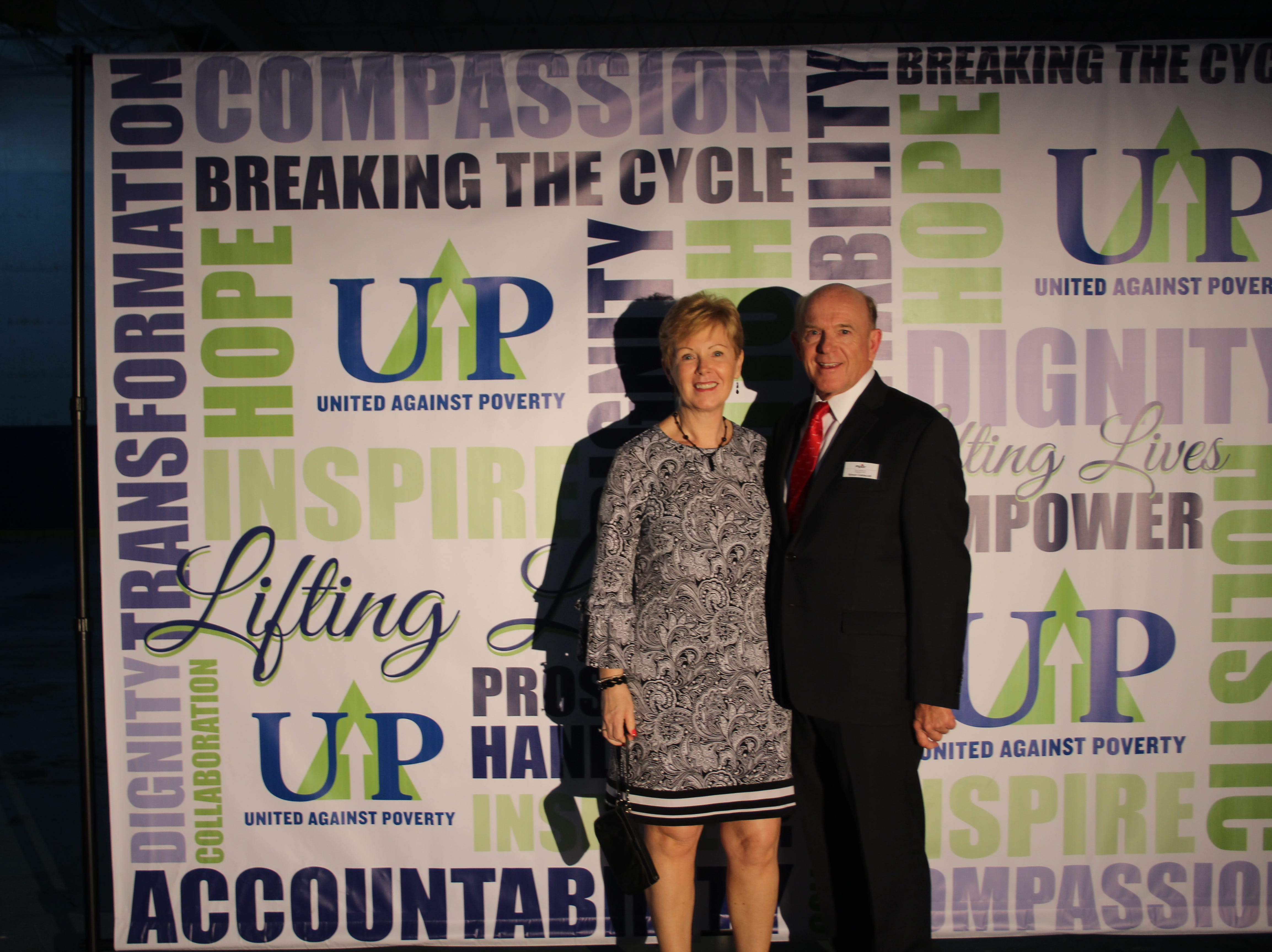 Eleanor and Simon Caldecott at United Against Poverty's Lifting Lives Out of Poverty Capital Campaign kick-off for Phase II.