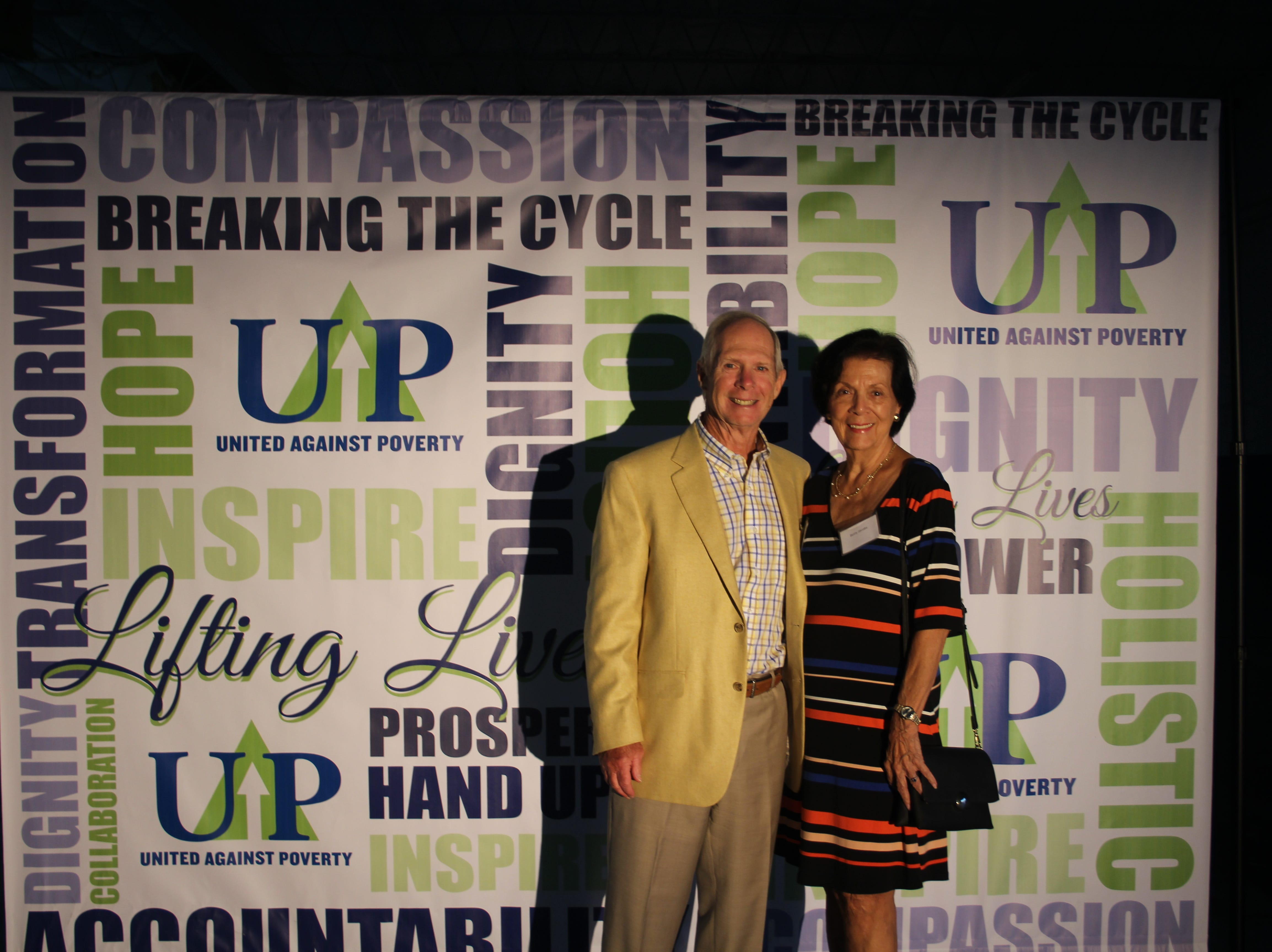 Dale and Betty Jacobs at United Against Poverty's Lifting Lives Out of Poverty Capital Campaign kick-off for Phase II.