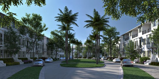 Rendering of development proposed for Stuart's Sailfish Park by New Urban Communities.