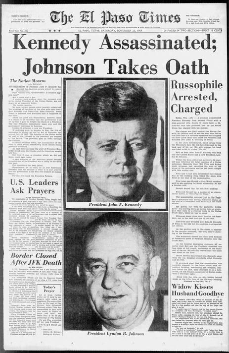 El Paso Times Sat Nov 23 1963