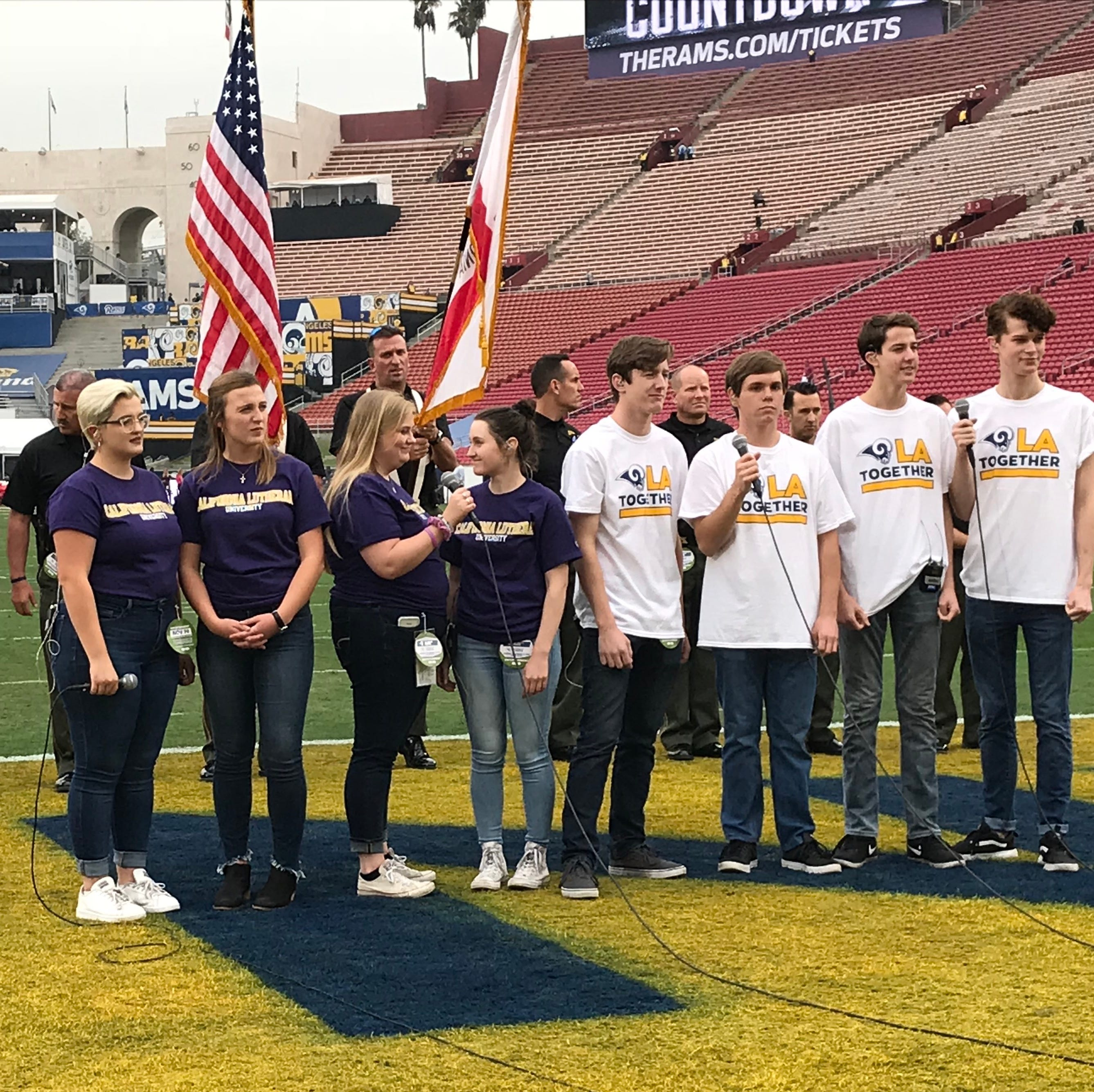 CLU choir members honor Justin Meek with 'Monday Night Football' performance