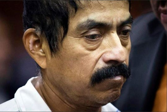 """Conrado Juarez is arraigned in Manhattan Criminal Court in New York on Oct. 12, 2013, on a charge of murder in the 1991 death of 4-year-old Anjelica Castillo, nicknamed """"Baby Hope.""""  Juarez died in custody Sunday, Nov. 18, 2018, at Montefiore Nyack Hospital following complications related to pancreatic cancer. The 57-year-old was awaiting trial for the last five years."""