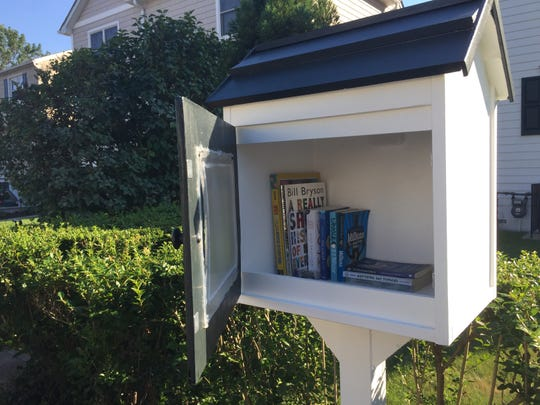 A Little Library on Frank Avenue in Mamaroneck.