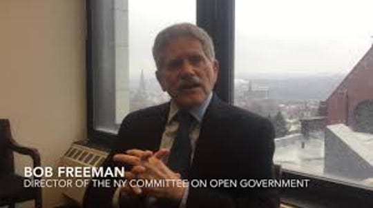 Robert Freeman, executive director of the New York state Committee on Open Government