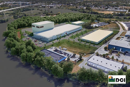 A rendering of the planned Pine Box soundstage on Wilmington's Seventh Street Peninsula.